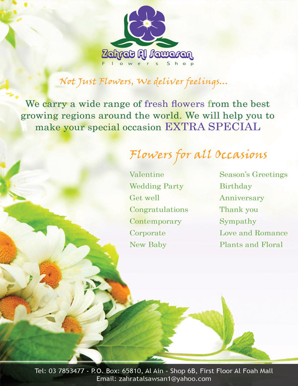 Flowers Shop flyer design 3rd option