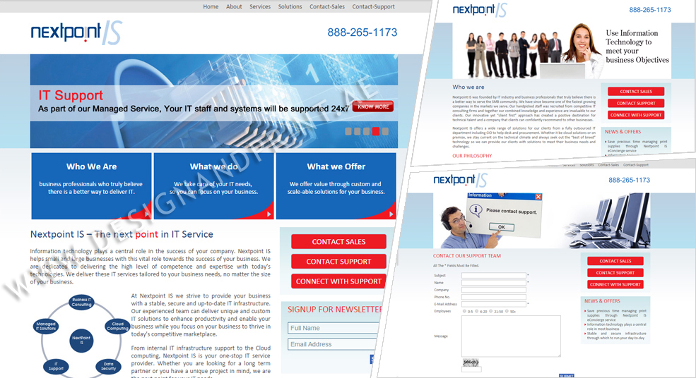 website layout for IT company in USA