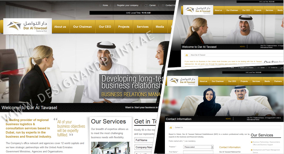 website layout for business consultants