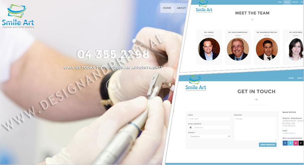 website layout for dentail clinic