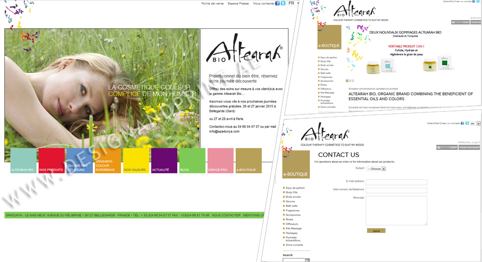 website layout for online store france