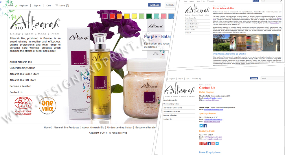 website layout for online store