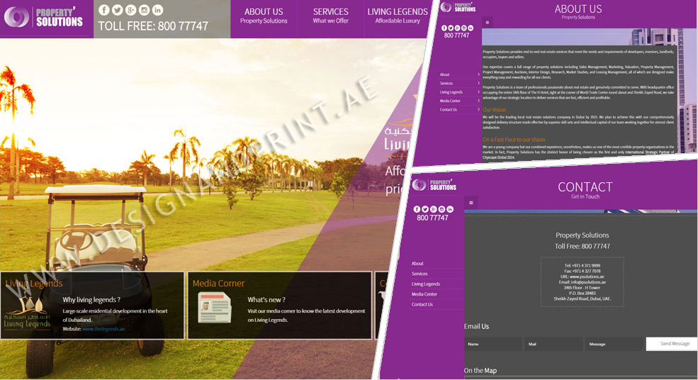 website layout for real estate company