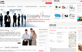 Website layout for IT and communication