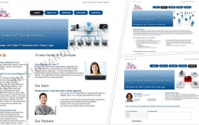 Website layout for IT company USA