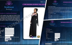 Website layout for abaya boutique