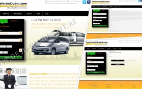 Website layout for car rental services