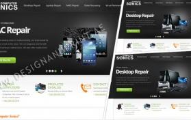 Website layout for computers store