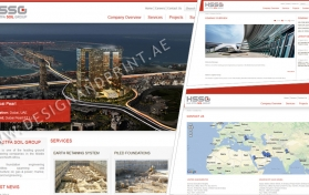 Website layout for construction company