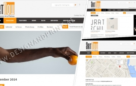 Website layout for contemporary arts