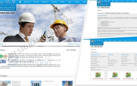 Website layout for contracting company