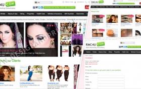 Website layout for deal website