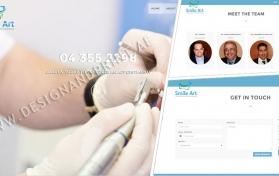 Website layout for dental clinic