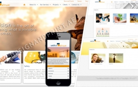 Website layout for genral contracting company