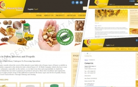 Website layout for honey store