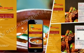 Website layout for indian restaurant