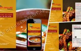 Website layout for indian restaurant