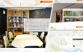 Website layout for interior design company
