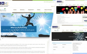 Website layout for management consultants