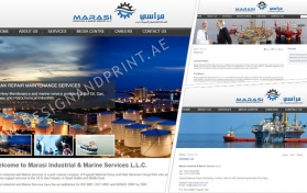Website layout for marine services