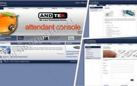 Website layout for networking solutions provider