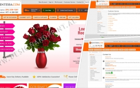 Website layout for online gifts store
