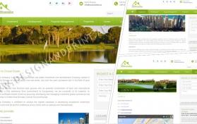 Website layout for properties company dubai