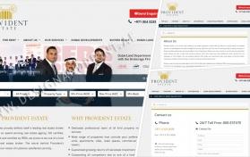 Website layout for real estate broker