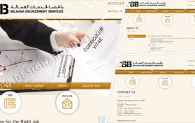 Website layout for recruitment company belhasa