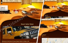 Website layout for tourism company