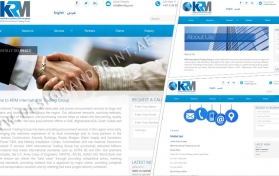 Website layout for trading company