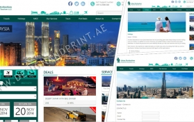 Website layout for travel and tourism
